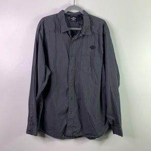 HARLEY-DAVIDSON Snap Up Long Sleeve Shirt Mens 2XL